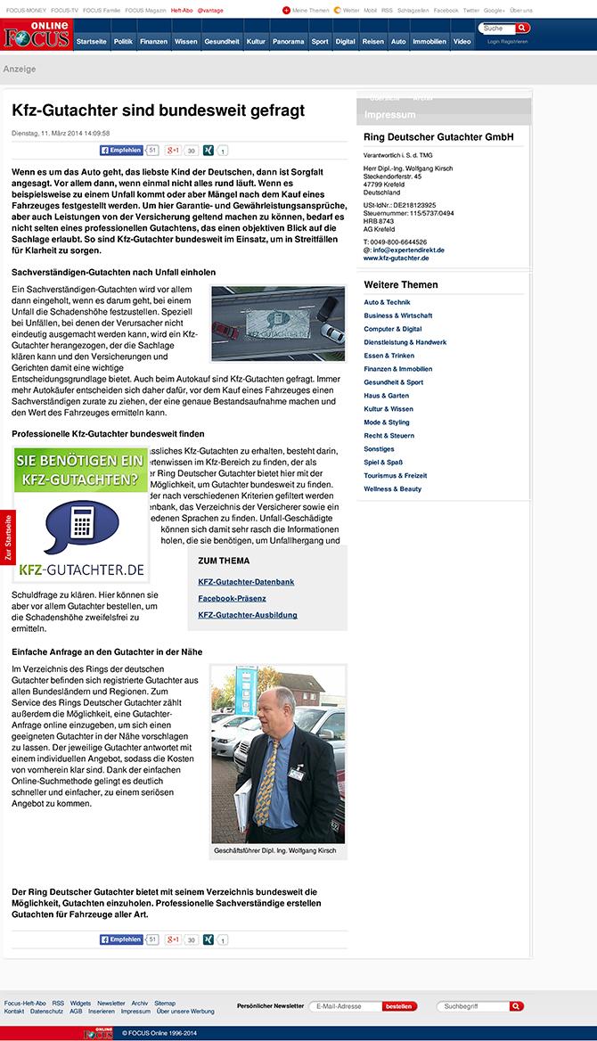 KFZ-Gutachter bundesweit beauftragen - Unternehmen - FOCUS Online